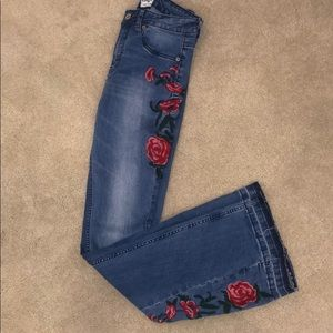 Umgee Floral Flare Jeans